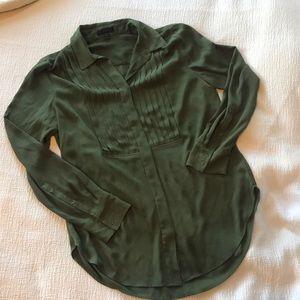 J.crew tunic blouse with tuxedo details